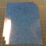 "Aqua Siser Glitter Three (3) 10"" x 12"" Sheets"