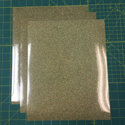"Gold Confetti Siser Glitter Three (3) 10"" x 12"" Sheets"