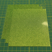 "Light Green Siser Glitter Three (3) 10"" x 12"" Sheets"