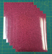 "Blush Siser Glitter Five (5) 10"" x 12"" Sheets"