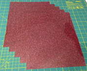 "Burgundy Siser Glitter Five (5) 10"" x 12"" Sheets"