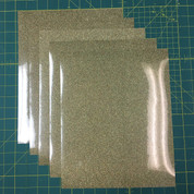 "Gold Confetti Siser Glitter Five (5) 10"" x 12"" Sheets"