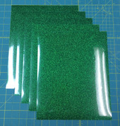 "Green Siser Glitter Five (5) 10"" x 12"" Sheets"