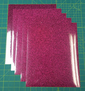 "Hot Pink Siser Glitter Five (5) 10"" x 12"" Sheets"