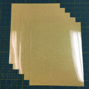 "Lemon Sugar Siser Glitter Five (5) 10"" x 12"" Sheets"