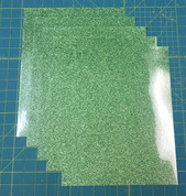 "Light Green Siser Glitter Five (5) 10"" x 12"" Sheets"