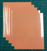 "Neon Orange Siser Glitter Five (5) 10"" x 12"" Sheets"
