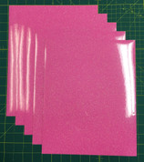 "Neon Pink Siser Glitter Five (5) 10"" x 12"" Sheets"