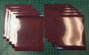 """Burgundy Siser Glitter Ten (10) 10"""" x 12"""" Sheets"""