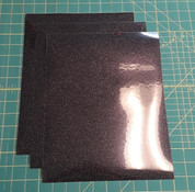 "Black Glitterflex Three (3) 10"" x 12"" Sheets"