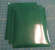 "Green Glitterflex Three (3) 10"" x 12"" Sheets"