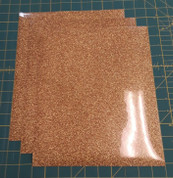 "Light Gold Glitterflex Three (3) 10"" x 12"" Sheets"