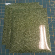 "Light Green Glitterflex Three (3) 10"" x 12"" Sheets"