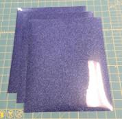 """Navy Glitterflex Three (3) 10"""" x 12"""" Sheets"""