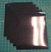 "Black Glitterflex Five (5) 10"" x 12"" Sheets"
