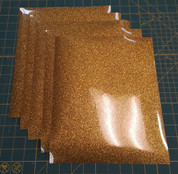 "Gold Glitterflex Five (5) 10"" x 12"" Sheets"