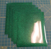 "Green Glitterflex Five (5) 10"" x 12"" Sheets"