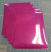 "Hot Pink Glitterflex Five (5) 10"" x 12"" Sheets"