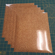 "Light Gold Glitterflex Five (5) 10"" x 12"" Sheets"