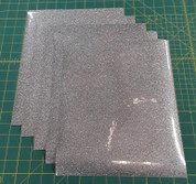 "Silver Glitterflex Five (5) 10"" x 12"" Sheets"