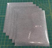 "Silver Glitterflex Five (5) 10"" x 12"" Sheets"