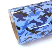 """Blue Camo Thermoflex Fashion Patterns 12"""" Roll (Click for Lengths)"""