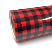"""Buffalo Plaid Red Thermoflex Fashion Patterns 12"""" Roll (Click for Lengths)"""