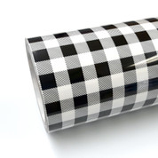 """Buffalo Plaid White Thermoflex Fashion Patterns 12"""" Roll (Click for Lengths)"""