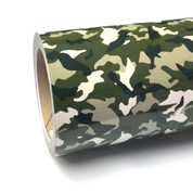 """Green Camo Thermoflex Fashion Patterns 12"""" Roll (Click for Lengths)"""