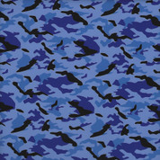 """Blue Camo Thermoflex Fashion Patterns 12"""" x 12"""" Sheets (Click for Quantities)"""