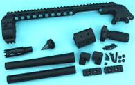 Shotgun Receiver Rail (Slim) (Short) (Black) GP-SHP022BK