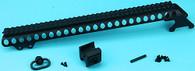 Shotgun Receiver Rail Set (Medium) (Black) GP-SHP020BK