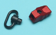 M-LOK/Keymod Adjustable QD Sling Swivel (Red) GP-MLK021RD