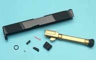 EMG SAI Utility Slide Kit (by G&P) - Gold Barrel for Umarex Glock 17 GBB Pistol