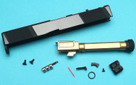 EMG SAI Utility Slide Kit w/ RMR Cut (by G&P) - Gold Barrel for Umarex Glock 17 GBB Pistol