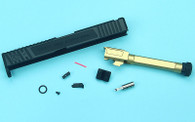 EMG SAI Tier One Slide Kit (by G&P) - Gold Barrel for Umarex Glock 17 GBB Pistol