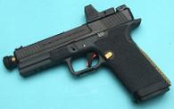 G&P EMG Custom CNC Steel Blu GBB Pistol with RMR Sight (Black)