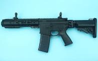 G&P EMG SAI GRY Gen. 1 Billet Style Receiver AEG Training Rifle w/ JailBrake Muzzle and Folding Stock (Model: i5 Gearbox / CQB / Black)