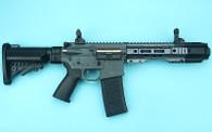 G&P EMG SAI GRY Gen. 1 Billet Style Receiver AEG Training Rifle w/ JailBrake Muzzle and Folding Stock (Model: i5 Gearbox / CQB / Gray)