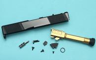 EMG SAI Utility Slide Kit (by G&P) - Gold Barrel for Umarex(VFC) G19 GEN 3 GBB Pistol (RMR Cut)