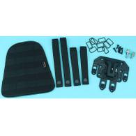 G&P Molle / PAL Quick Detach Weapon Catch with Molle Hip Pad (Black)