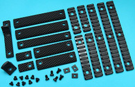 G&P URX III Rail Cover Set (Long, Black) GP-COP037B for Airsoft toys