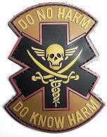 """DO NO HARM, DO KNOW HARM"" Logo Airsoft PVC Velcro Patch (AF-PA005C)"