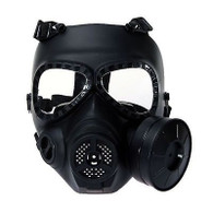 Dummy Gas Mask M04 Black with Fan for Airsoft Paintbal Cosplay Protection Gear