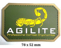 """AGILITE"" Logo Airsoft PVC Velcro Patch (AF-PA007A) (Yellow / OD)"