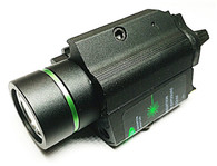 ACM Metal Body M6 Style LED Flash Light with Green Laser & weaver rail (LA-052)