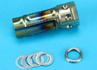 3 Prong Steel Flashider (Burnt Blue Finish) (L) (Anti-Clockwise) GP-FLH008A