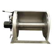 Kolstrand 18 Inch Aluminum Anchor Winch - With 18 In Diameter X 20 In Wide Drum  - Model AKPAAW18D20W