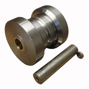 Kolstrand 8 Inch Diameter X 7-7/8 Inch Wide Steel Bow Roller with 2 inch Diameter Shaft Pin for Use with Forfjord Anchor
