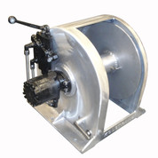 Kolstrand 18 Inch Aluminum Anchor Winch - With 18 In Diameter X 10 In Wide Drum  - Model AKPAAW18D10W